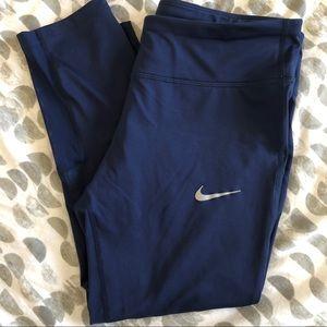 Nike Power Running Crop Leggings Pastel Navy Sz L
